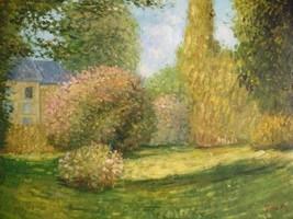 20X24 inch Claude Monet Oil Painting Repro The Park - $17.61