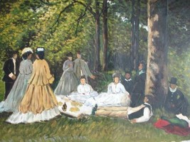 20X24 inch Monet Painting The breakfast in the green study - $17.61