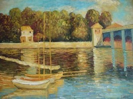 20X24 inch Monet Oil Painting Repro The bridge of Argenteuil - $17.61