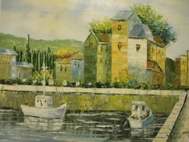 20X24 inch Impressionism Hand-painted Oil Painting Villas - $17.61