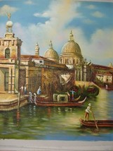 20X24 inch Cityscape Oil Painting Italy Venice Salute Church - $17.61