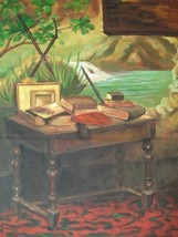 20X24 inch Claude Monet Oil Painting A Corner of the Studio - $17.61