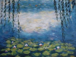 20X24 inch C. Monet Oil Painting Repro Water Lilies 3 - $17.61