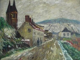 20X24 inch Claude Monet Painting Local entrance of Vetheuil - $17.61