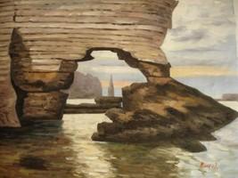 20X24 inch Claude Monet Oil Painting Repro La porte Amont - $17.61