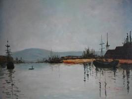 20X24 inch Claude Monet Painting Repro The Seine Below Rouen - $17.61