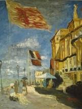 20X24 inch Monet Painting Hotel de Roches Noires a Trouville - $17.61