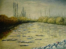 20X24 inch Monet OilPainting Repr Floating Ice Near Vetheuil - $17.61