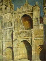 20X24 inch Claude Monet Oil Painting Rep Cathedral of Rouen - $17.61