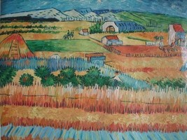 20X24 inch Van Gogh Oil Painting Repro Harvest at La Crau - $17.61
