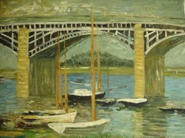 20X24 inch Claude Monet Painting Repro Bridge over the Seine - $17.61