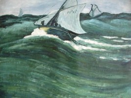 20X24 inch Claude Monet Oil Painting Repro The green wave - $17.61