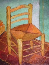 20X24 inch Van Gogh Painting Vincents Chair with His Pipe - $17.61