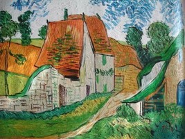 20X24 inch Van Gogh Painting Repro Village Street in Auvers - $17.61