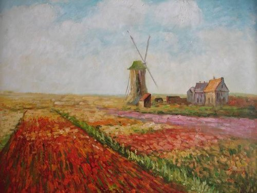 20X24 inch Claude Monet Painting Rep Tulips of Holland