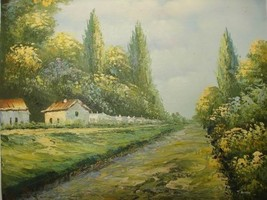 20X24 inch Landscape Hand-painted Oil Painting Countryside - $17.61