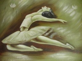 20X24 inch Abstract Ballet Oil Painting Ballerina - $14.69