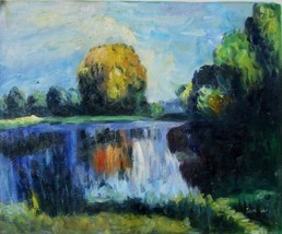 20X24 inch Abstract Oil Painting Impressionism ... - $14.69