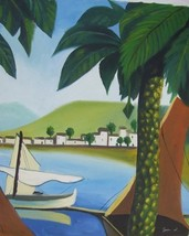 20X24 inch Seascape Oil Painting Villas By The Sea In French - $14.67
