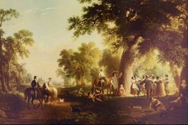 12X16 inches Asher Brown Durand Canvas Print Dance of the Haymakers - $13.70