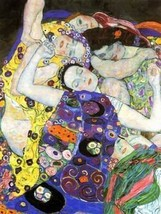 An item in the Art category: 12X16 inches Gustav Klimt Abstract Figure Canvas Print Repr The virgin