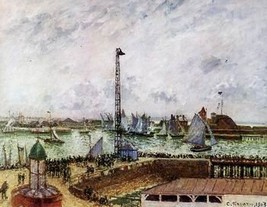 12X16 inches Pissarro Camille The pilot's jetty... - $13.70