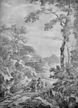 12X16 inches Pynacker Adam Italian landscape Sun Canvas Print Repro - $13.70