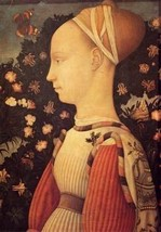 12X16 inches Pisanello Antonio Portrait Of Ginerva D Este 1436 Canvas Print - $13.70
