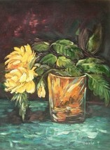 20X24 inch Still Life Oil Painting Yellow Flowers - $13.69