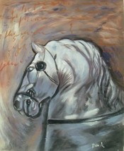 20X24 inch Animal Oil Painting Horse Portrait - $13.69
