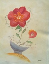 20X24 inch Still Life Hand-painted Oil Painting Red Flower - $13.69