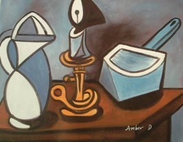 20X24 inch Abstract Still Life Oil Painting - $13.69