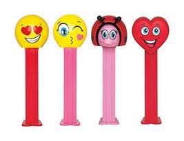 Pez Candy Dispensers Valentines Day Gift Set: Love Emoji, Kissing Emoji, Valenti - $16.82