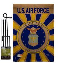 Air Force Burlap - Impressions Decorative Metal Garden Pole Flag Set GS1... - $36.97