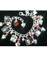 ELVIS PRESLEY Charm Bracelet 7 Gorgeous Elvis Presley Photo Charms, THE KING!! - $23.99