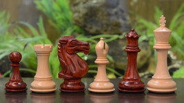 "Club Staunton Series Chess Pieces in Bud Rose & Box Wood 5.0"" King - SKU: M0082 - $408.99"