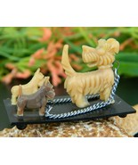 Vintage scotty dogs westies place card holder japan celluloid plastic thumbtall