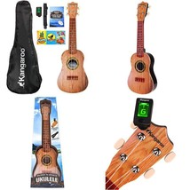 "22.5"" Ukulele With Electronic Tuner, Strap, Picks, Carrying Case & Songbook - $40.70"