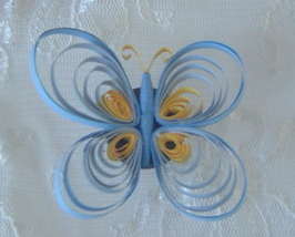 Special Order Handcrafted Paper Quill Tri Colored Butterfly  - $9.99