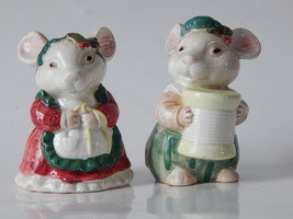 Vntage Fitz and Floyd Salt and Pepper Shakers - Mr and Mrs Rabbits / Bunnies - $27.23