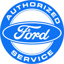 "Ford Authorized Service 22"" Metal Sign Vintage ... - $99.95"