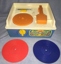 1987 Fisher Price 2205 MUSIC BOX/RECORD PLAYER 2 Records - Player does n... - $9.89