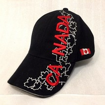 CANADA Embroidered BASEBALL Cap BLACK RED Maple Leaf One Size New SOUVENIR - $22.27
