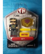 Minecraft Tube Heroes Sky Butter Action Figure toy set new in retail box - $2.96