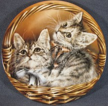 Andrew and Abbey Collector Plate Baskets of Love Alexei Isakov Cats Kittens - $19.95