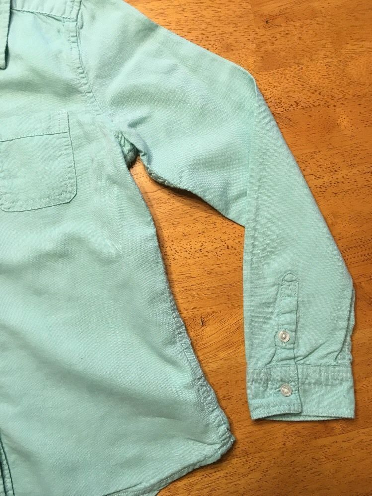 Gap Kids Girl's Teal Long Sleeve Dress Shirt - Size: Medium image 9