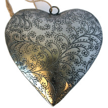"""Unique Handmade Etched Tin 5""""Heart by Culturas Trading Company-Holiday! - $249,42 MXN"""