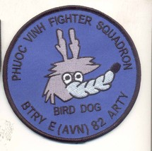 Us Army Phuoc Vinh Fighter Squadron Bird Dog Btry E 82 Arty (Avn) Patch - $11.87