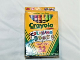 Vintage 30 Crayola Coloring Book Crayons 1997 - 32 Count Box Missing Two... - $15.84