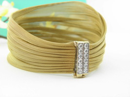 Tiffany & Co Diamond, Platinum and 18k Gold Mesh Bracelet  - $5,096.00